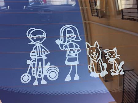 Rv decals and camper decals showing my fab family