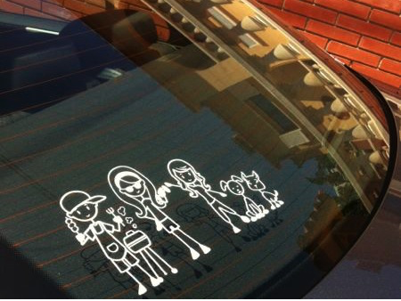 Custom car window family decals