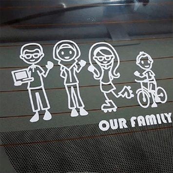 family car window decal