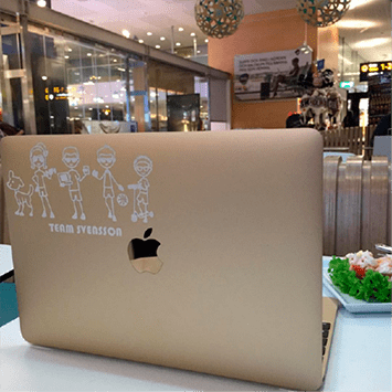 custom laptop sticker
