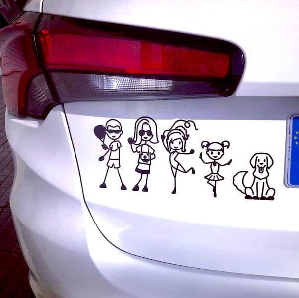 Create custom vinyl stickers for your bumper