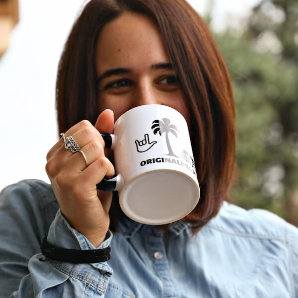 Enjoy your coffee in a personalised mug, coffee cup